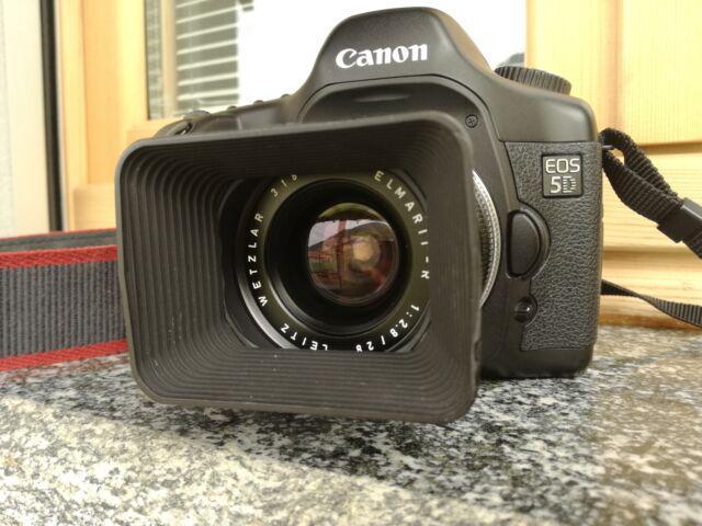Canon eos 5d + leitz elmarit r28/2,8