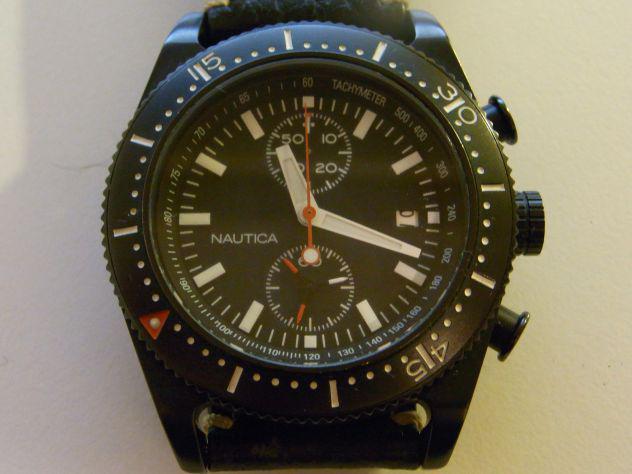 Nautica chrono quartz militare 100m con doppio cinturino