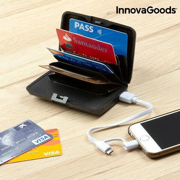 Portatessere di sicurezza e power bank innovagoods