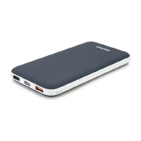 Powerbank da 10000 mah 2 x usb / micro-usb colore grigio