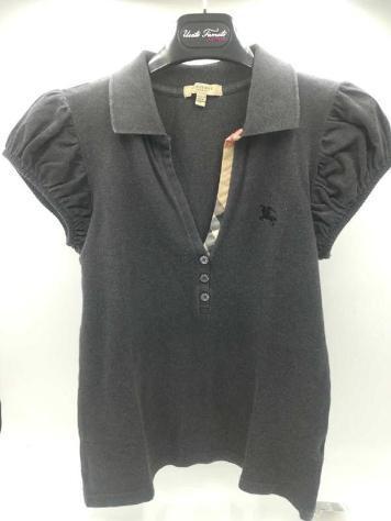 T shirt donna burberry grigia/beige