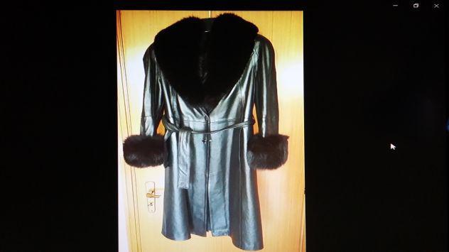 Cappotto in pelle di vitello e pelliccia di volpe