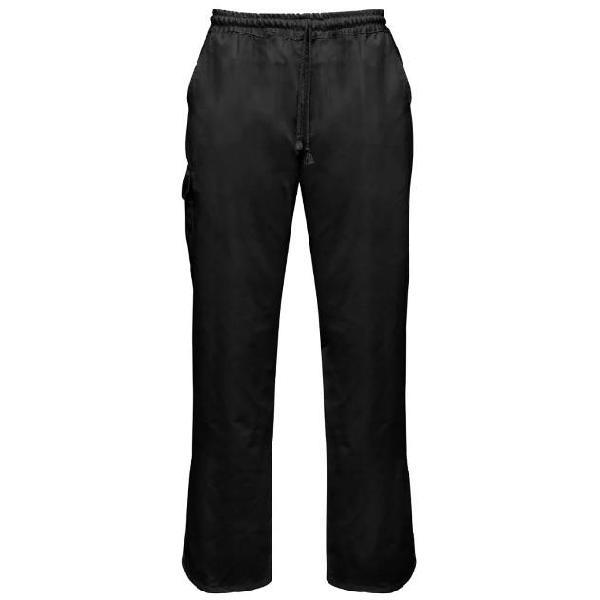 Vidaxl set 2 pz pantaloni da cuoco neri vita elasticizzata