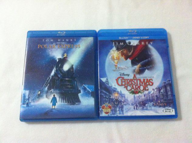 "Polar Express"" + ""A Christmas Carol"", 2 blu ray natalizi."