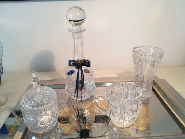 Servizio soprammobili cristallo argento