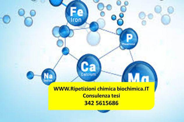 Biochimica lezioni e consulenza tesi