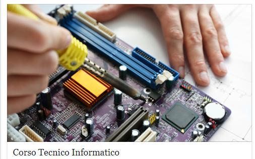 Corso professionale per diventare tecnico informatico con