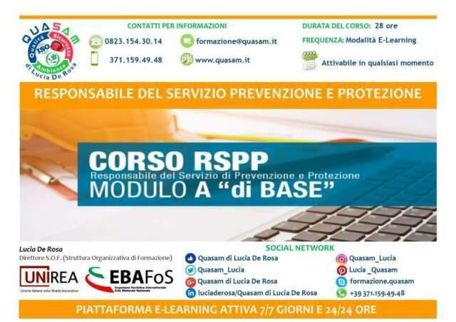 Corso rspp modulo a + b + c (100 ore)