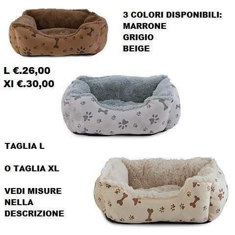 Cuccia cane gatto misura l o xl 3 colori
