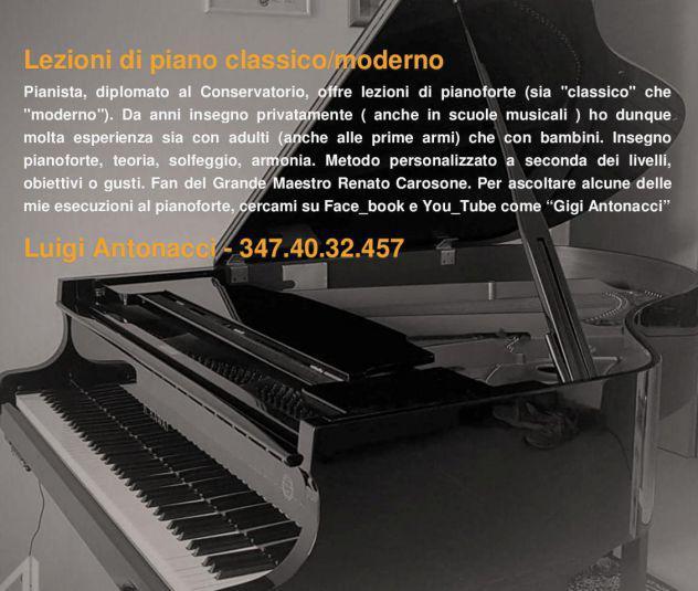 Lezioni di piano classico & moderno