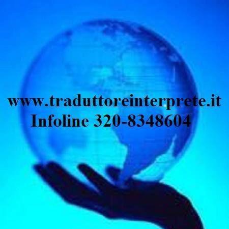 Traduttore giurato scandicci - info al 320-8348604