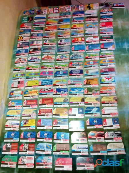 Collezione di 116 schede telefoniche