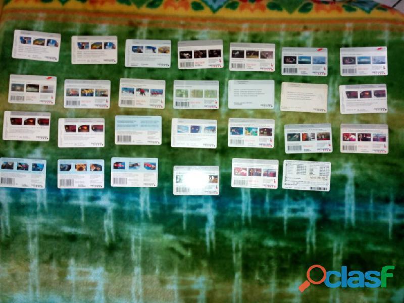 Collezione di 27 schede telefoniche svizzere