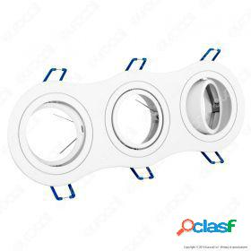 3*gu10 fitting round white