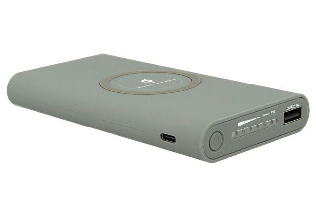 Lux cv8000g power bank caricabatterie wireless veloce grigio