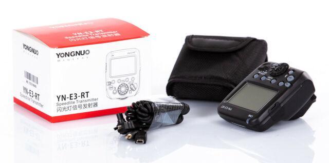 Trasmettitore radio trigger flash yongnuo yn-e3-rt canon eos