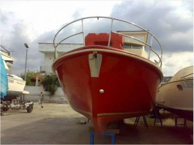 Barca a motore gozzo unico anno1977 lunghezza mt920