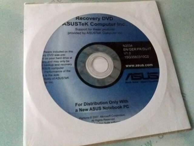 Asus f3sc recovery disc