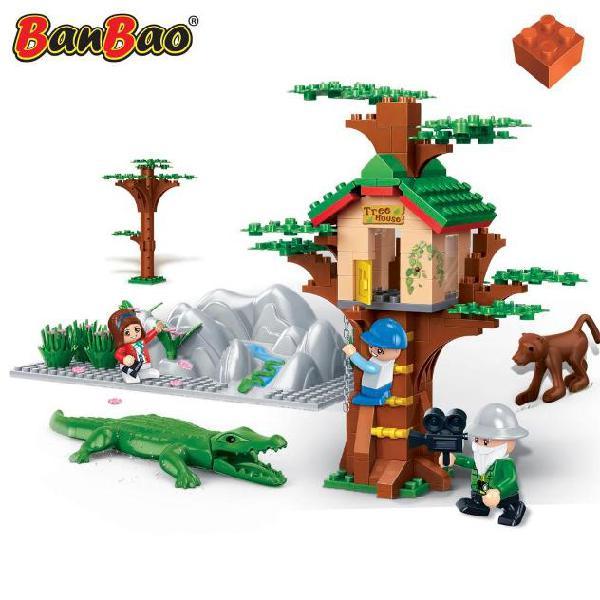 Banbao gioco casa sull'albero 6656