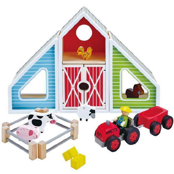 Hape Barn Play E3015 Gioco di fattoria