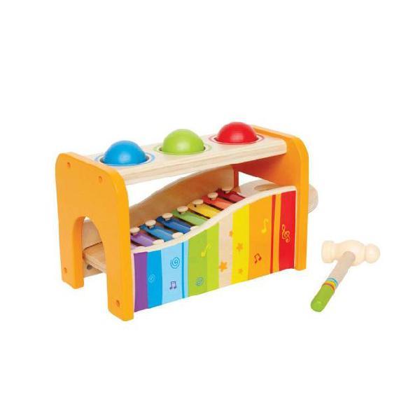 Hape E0305 Banco delle palline e xilofono