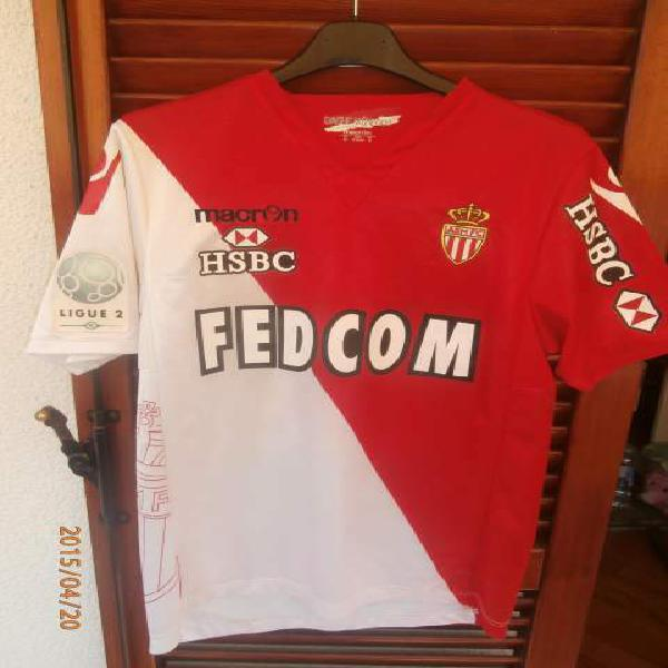 Maglia jersey as monaco soccer match worn ligue 2