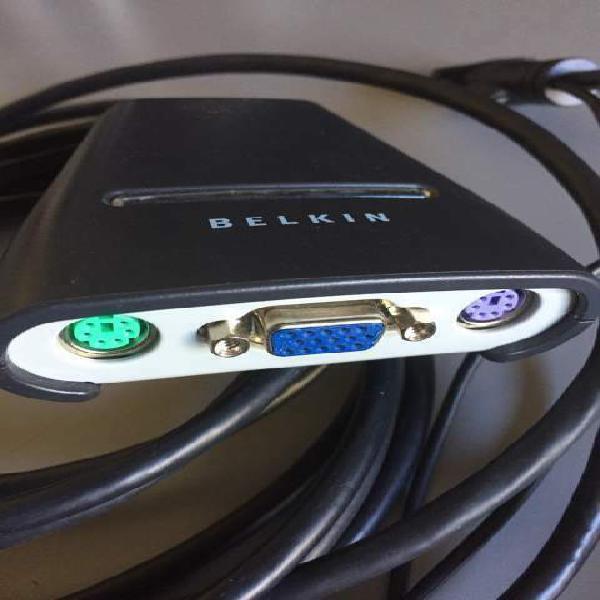 Switch kvm belkin per controllo due computer 2 pc