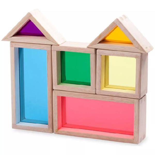 Wonderworld set gioco costruzioni blocchi arcobaleno di