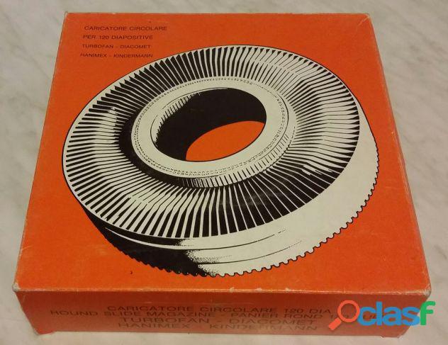 Caricatore diapositive circolare 120 turbofan diacomet hanimex kindermann nuovo