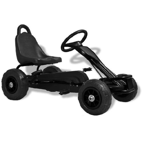 vidaXL Go Kart a Pedali con Pneumatici Nero