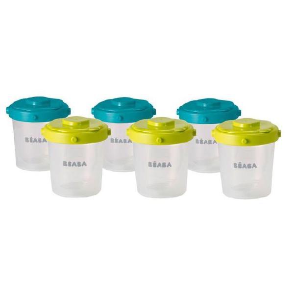 Beaba set 6 contenitori con chiusura a clip da 200 ml 912482