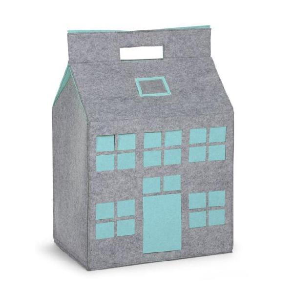 Childwood contenitore giocattoli grigio/menta 50x35x72 cm