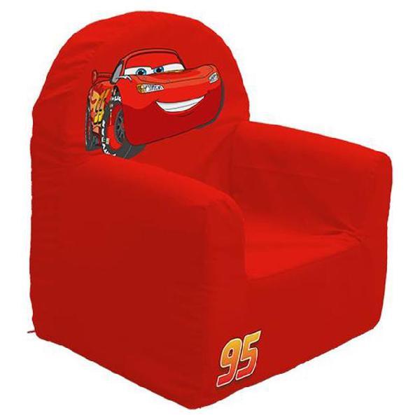 Disney poltrona per bambini di cars 41x37x29 cm rossa