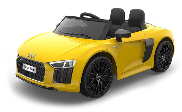 Macchina Elettrica Per Bambini 12v Audi R8 Spyder Gialla