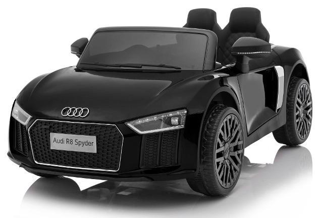 Macchina Elettrica Per Bambini 12v Audi R8 Spyder Nera