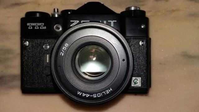 Macchina fotografica zenit ttl + accessori