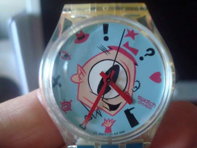Orologio swatch gulp, cupydus,chicchirichi