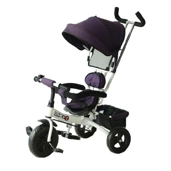Passeggino triciclo per bambini con maniglione e tettuccio