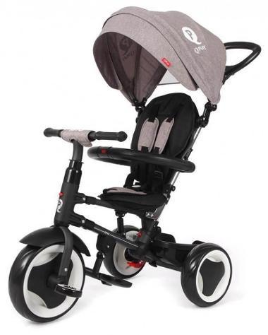 Passeggino Triciclo Pieghevole Qplay Rito 3 In 1 Happy Kids