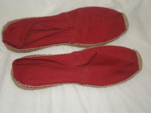 Scarpe spagnole espadrilias rosse n 40, nuove con base