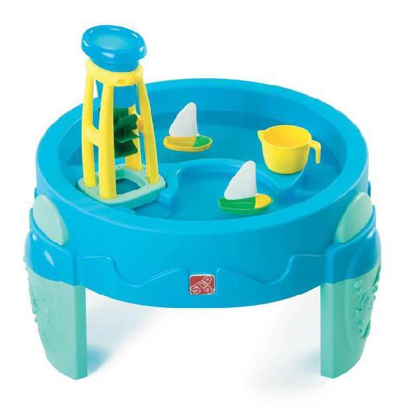 Step2 tavolo giochi acquatici con mulino ad acqua blu 753800