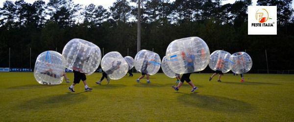 Affitto noleggio bubble football o bubble soccer cremona
