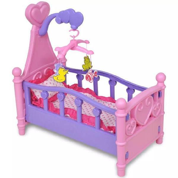Vidaxl giochi da camera per bambini culla per bambole rosa +