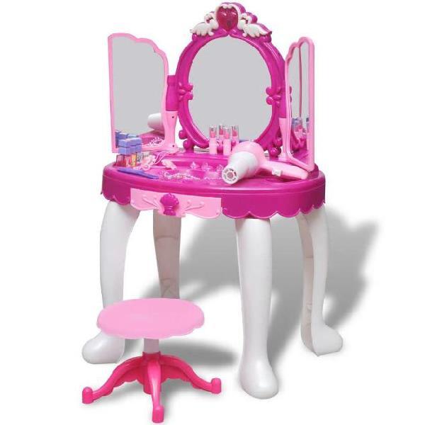 Vidaxl giochi da camera per bambini tavolo cosmetica 3