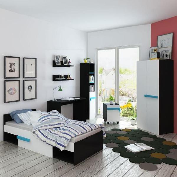 Vidaxl mobili camera da letto bambini con materasso 8 pz blu