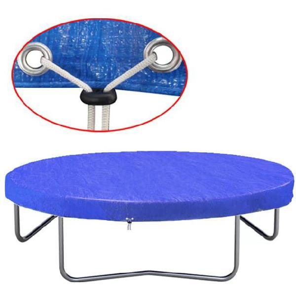 tessuto in poliestere con occhielli per ancoraggio protezione UV 2/coperture ruote per roulotte grigio