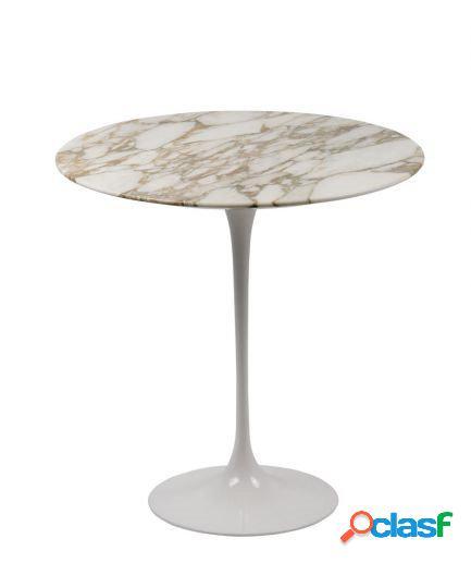 Tavolino saarinen rotondo 51 laminato o marmo