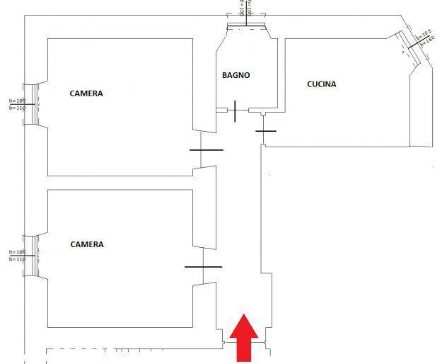 Roma centocelle ad. mirti appartamento bilocale piano terra