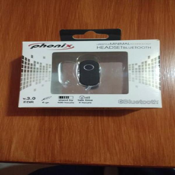 Auricolare bluetooth phonix android apple mp3 cellulare