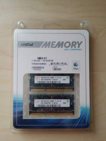 Kit memoria ram 4gb ddr3l 1066 (utilizzate su macbookpro)